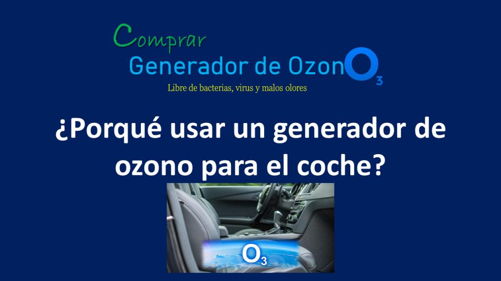 Generador de ozono para coches