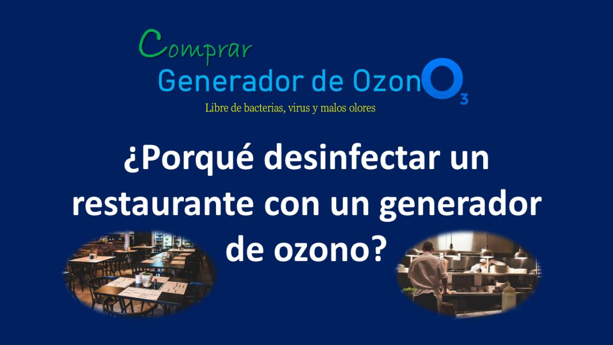 generador de ozono para restaurantes