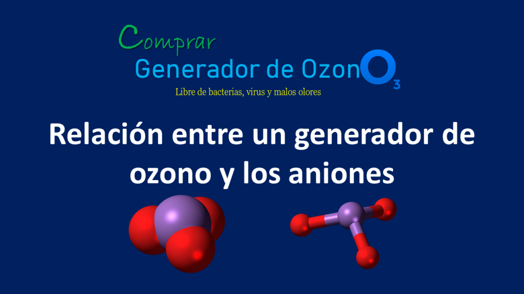 generador de ozono y aniones